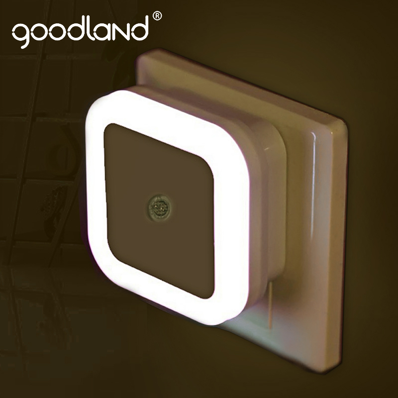 Goodland LED Night Light Bedroom Decor Lamp Children's Night Light Plug In Sensor Light Decoration Gift Nightlight For Home