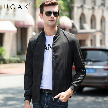 цена на UCAK Brand Jacket Men Spring Autumn New Arrival Jackets Free Shipping Clothes 2020 Fashion Style Zipper Chaquetas Hombre U8040
