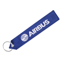 AIRBUS Keychain Bag tag Straps Double-sided Embroidery A320 Aviation Key Ring Chain Aviation Gift Strap Lanyard Luggage Lable