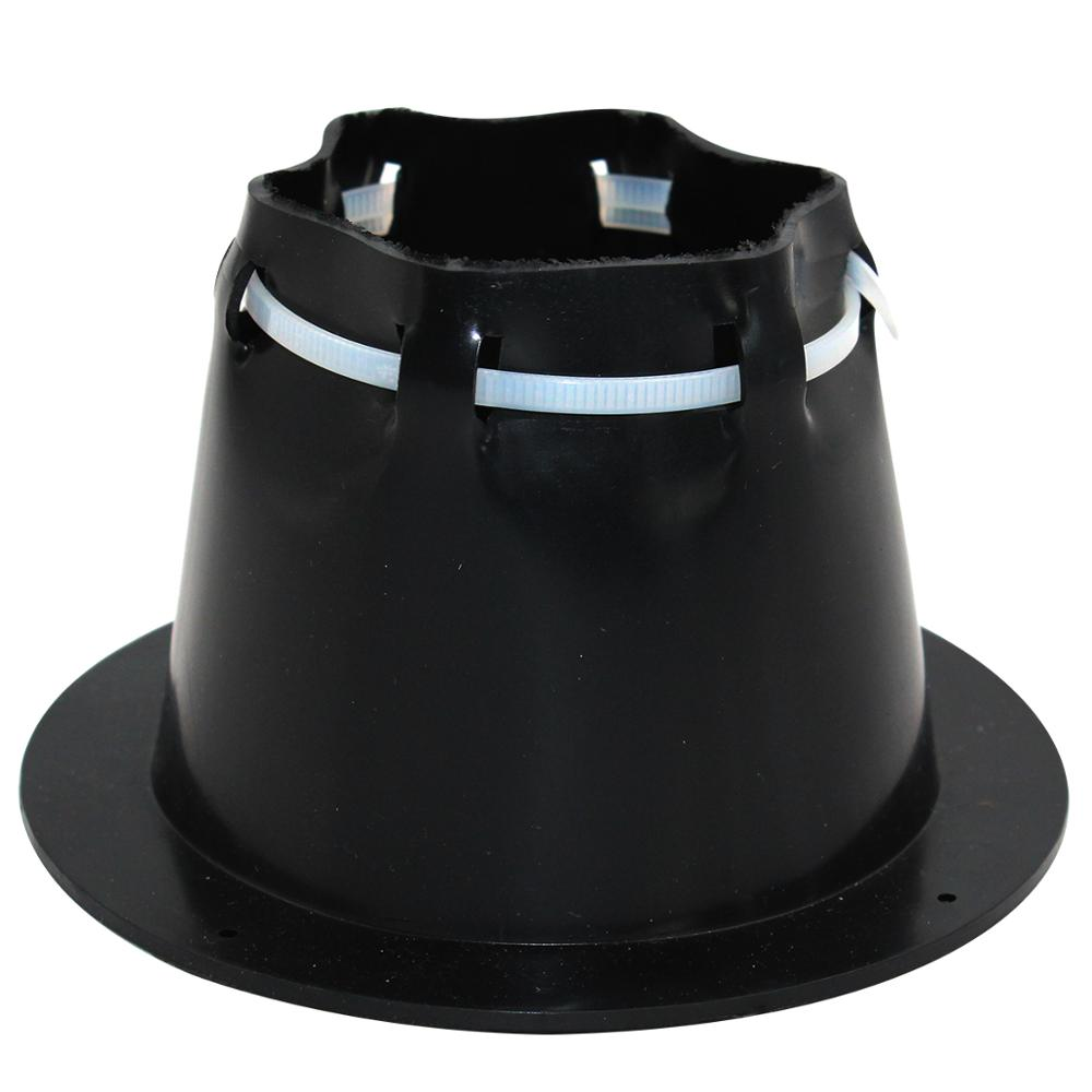 Waterproof Piercing Protective JacketStandard Transom Boat Steering Cable Boot Motorwell With Wire Tie Black