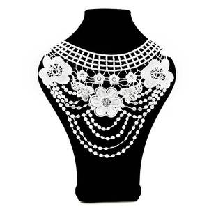 """Image 3 - 7 Color """"Front Collar+Back Collar"""" Craft Venise Sequins Floral Embroidered Applique for DIY Costume Decoration Accessories"""