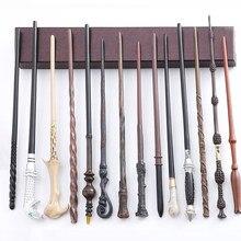 27 tipos de varinhas mágicas cosplay dumbledore voldmort snape metal/núcleo de ferro varinha mágica sem caixa presente do dia das bruxas