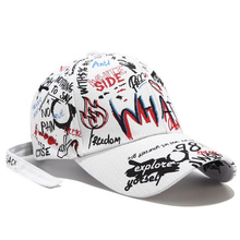2019 New Unisex Graffiti Hats for Women men Adjustable Black White Color All-matching Baseball Caps