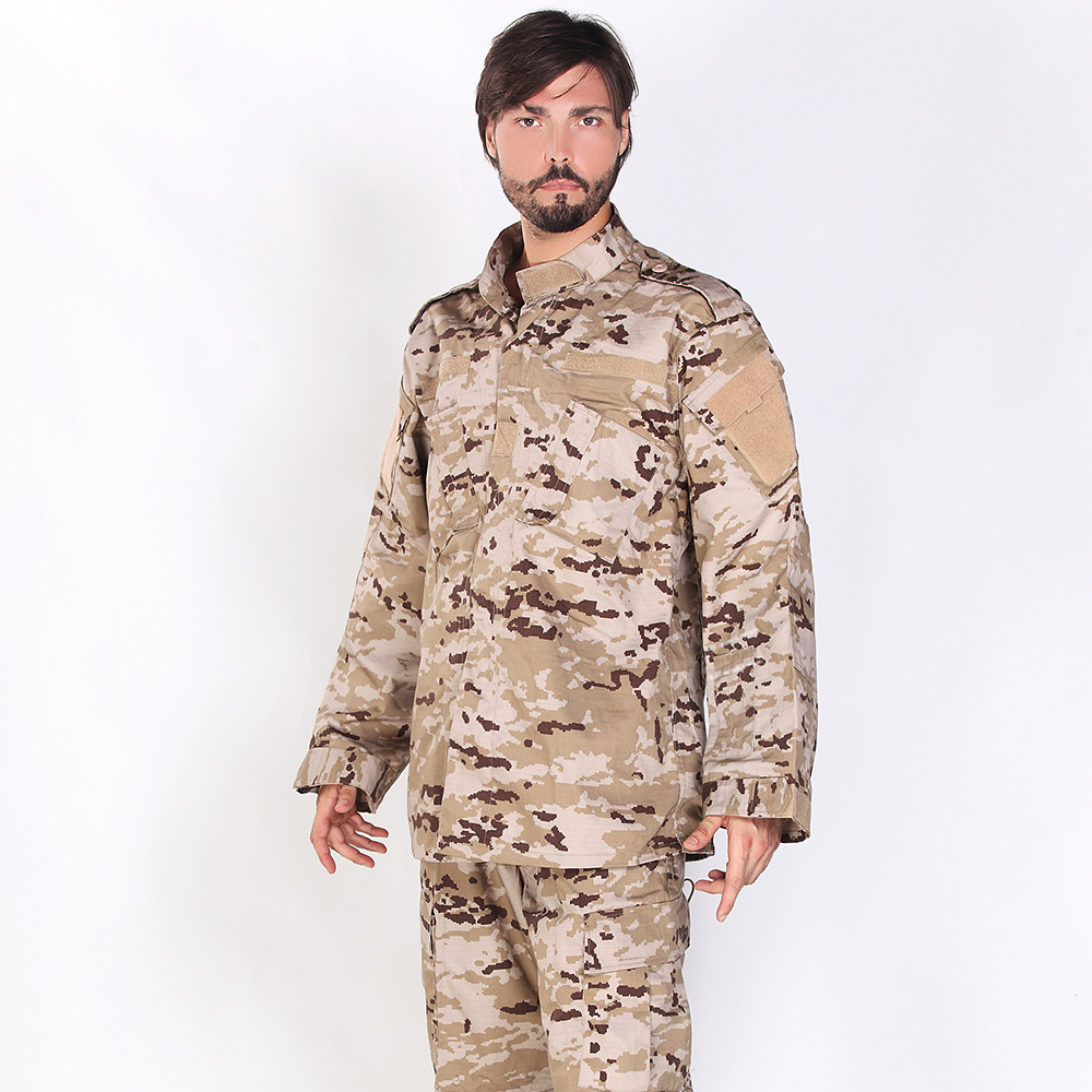 Military Uniform Tactical Atacs A-tacs FG Camo PC Ripstop Shirt & Pants Army Combat Coat Set Airsoft CS Solider Training Cloth