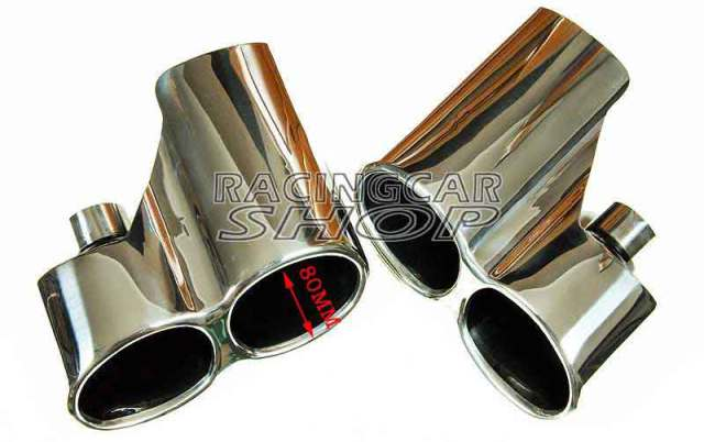 AMG Exhaust pipe Muffler Tips Tip 1pair for Mercedes Benz W221 S550 S63 S65 05-12 M111W 5