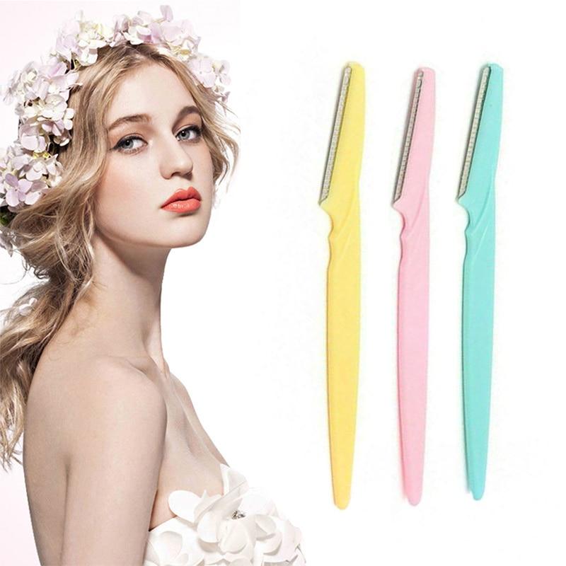 Portable Eyebrow Trimmer Eyebrow Knife Women Makeup Facial Tool Eyebrow Lip Razor Trimmer Blade Shaver Knife Beauty Tool