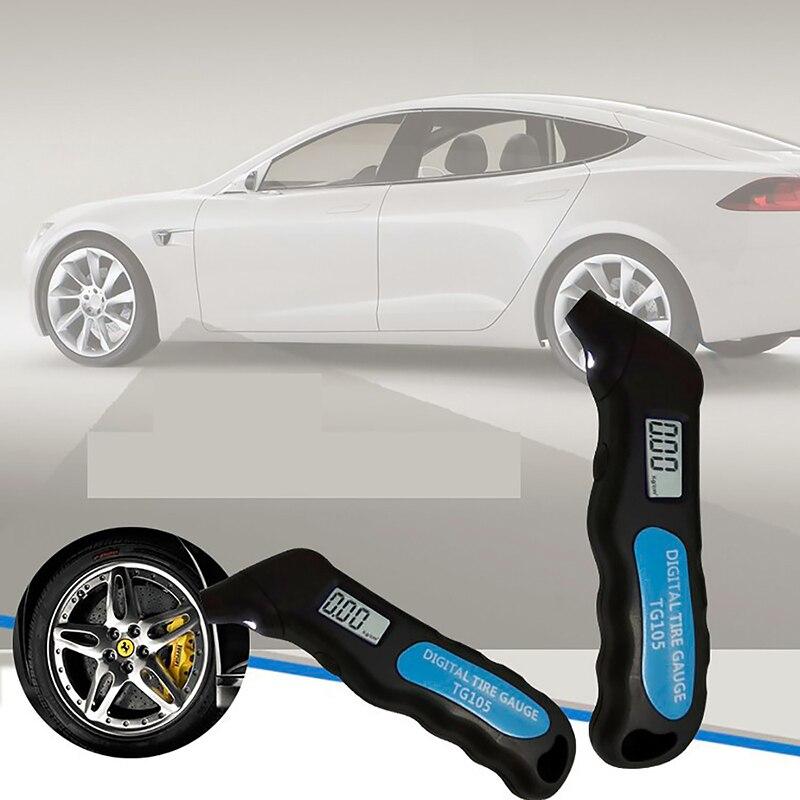 Haute précision numérique voiture pneu pneu jauge de pression d'air compteur LCD affichage manomètre baromètres testeur pour voiture camion moto