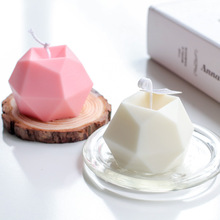 1PCS Eight-sided Multilateral Diamond Face Cube DIY Candle Mold Creative Handmade Aromatherapy Apple 3D Candle Silicone Mold Dec