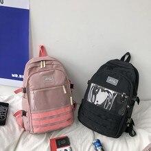 Backpack Women Transparent School-Bags Teenager Girls Waterproof Children New-Fashion