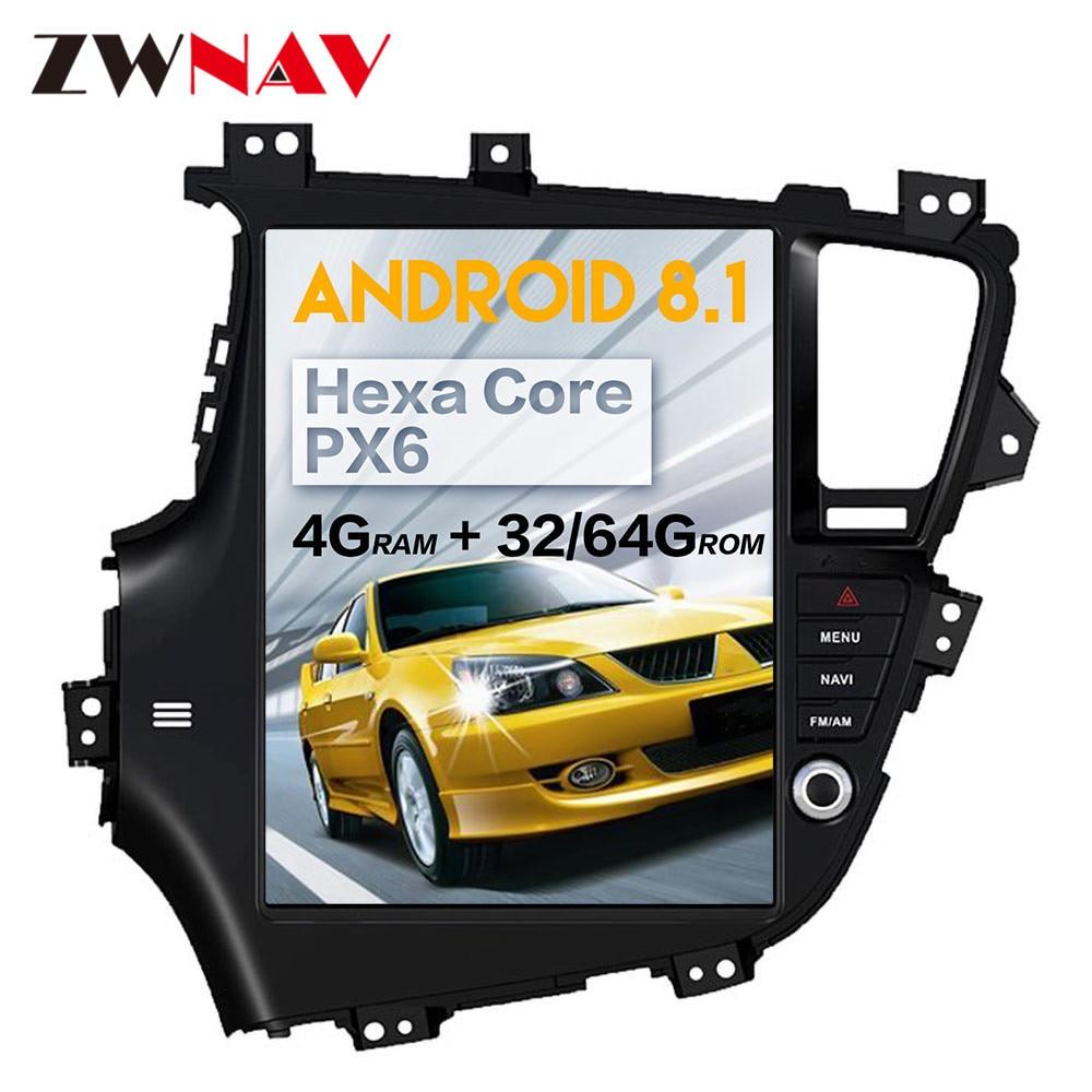 Tesla Style Android 8.1 Car Multimedia Player For KIA Optima KIA K5 2010 2011 2012 2013 Car Radio Stereo GPS Navi Head Unit 1din