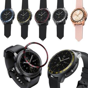 Nuevo anillo biselado para Samsung Galaxy Watch, cubierta adhesiva de 42mm, accesorios de protección de acero inoxidable antiarañazos para Gear S2 sport