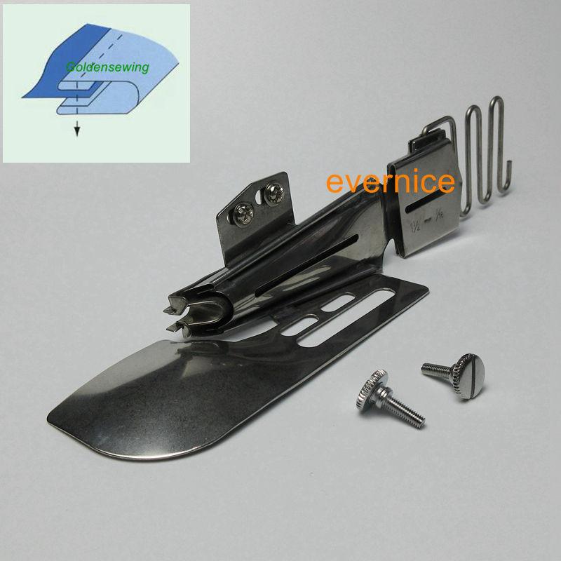 Cover Stitch Double Fold Edge Binder Attachment Folder For  Janome CoverPro