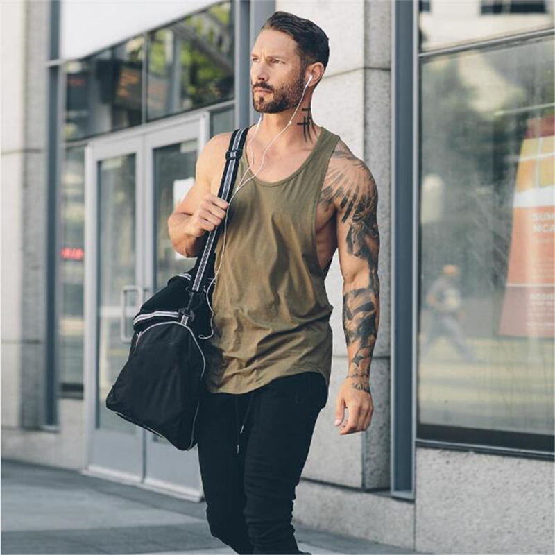 New Brand Mens Tank Top Workout Mesh Gym Clothing Bodybuilding Musculation Fitness Singlets Sleeveless Vest Muscle Sport Shirt