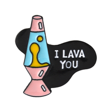 I LAVA YOU Enamel Pin Cartoon Pink lava lamp badge brooch Lapel pin Denim Jeans bag Shirt Collar Fun Jewelry Gift for Friends pink round ribbon enamel pin love gesture badge brooch girl rule boys drool denim clothes bag lapel pin jwewlry gift for friends