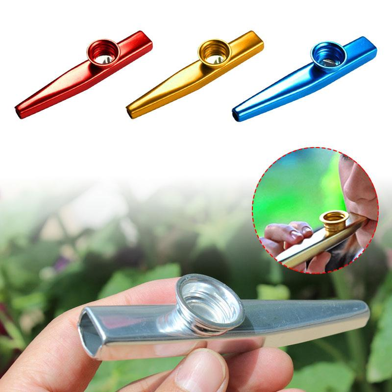 Flute Convenient Lightweight Aluminum Alloy Learner Gift Starter Guitar Instrume Teaching Adult Kazoo image