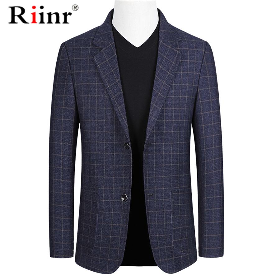 Riinr Brand Spring Autumn Men Blazer Fashion Slim Suit Jacket Men Business Casual Clothing High Quality Men's Suit Male M-3XL