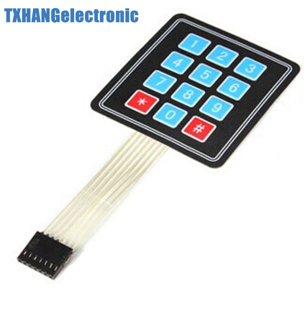 5PCS 4 X 3 Matrix Array 12 Key Membrane Switch Keypad Keyboard Diy Electronics