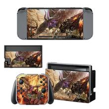 Monster Hunter Nintendoswitch Skin Sticker Decal Cover for Nintendo Switch Full Set Faceplate Stickers Console Joy-Con Dock
