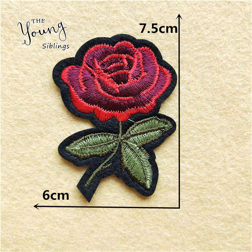 New Arrival rose flower patches embroidery applique clothes sewing patch DIY badge patch accessories 1pcs sell New Arrival rose flower patches embroidery applique clothes sewing patch DIY badge patch accessories 1pcs sell Free Shipping