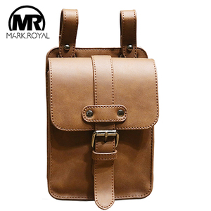 MARKROYAL Men PU Leather Waist Bags Fanny Pack Coffee Wallet Belt Male Waist Bags Cigarette Case for Phone Dropshipping(China)