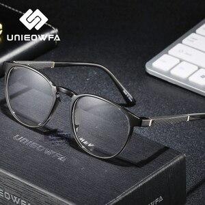 Image 2 - Retro yuvarlak reçete gözlük çerçevesi erkekler optik miyopi gözlük çerçeve Vintage temizle gözlük erkek şeffaf gözlükler