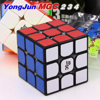 YongJun magnético cubo YJ 3x3x3 MGC V2 MGC 2 3 4 elite M 4x4x4 magia rompecabezas imán cubo yj MGC 2x2 3X3 4x4 velocidad cubo mágico