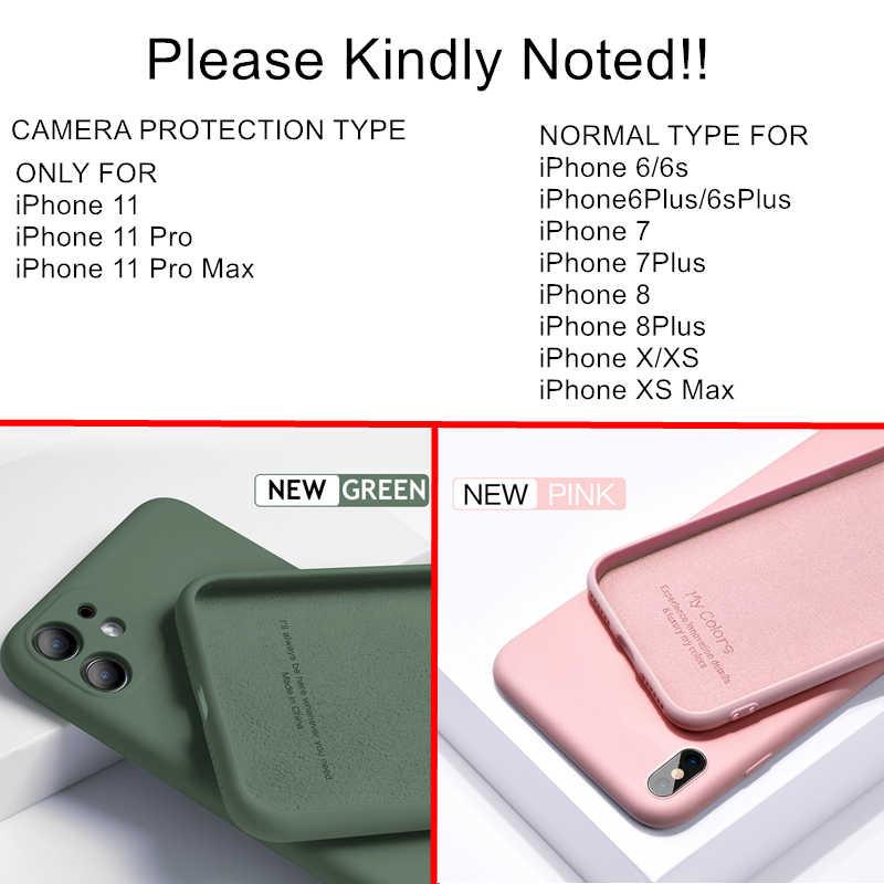 Per il iPhone 11 Pro SE 2 Caso di Lusso Originale Del Silicone Pieno di Protezione Molle Della Copertura Per il iPhone X XR 11 XS max 7 8 6 6s Cassa Del Telefono