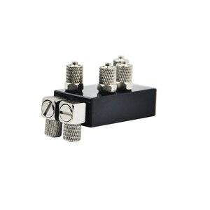 Image 2 - Distribuidor de aceite hidráulico Integral de tres canales para 1/14 RC, pieza de brazo de excavadora de Metal
