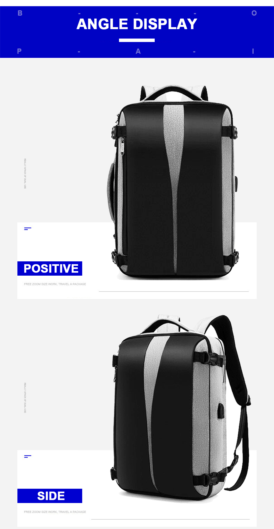 Men Backpack Anti Theft Travel Bagpack Laptop 15.6 Inch Notebook Waterproof Bags USB Charging Male Business Fashion Unisex Bag (14)
