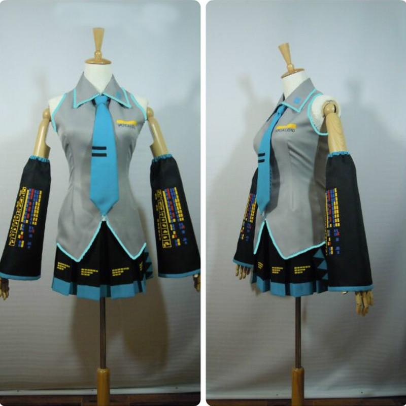 Hatsune Miku Cosplay Costume Japan Midi Dress Beginner Future Miku Cosplay Female Halloween Women's CostumeXXS-3XL