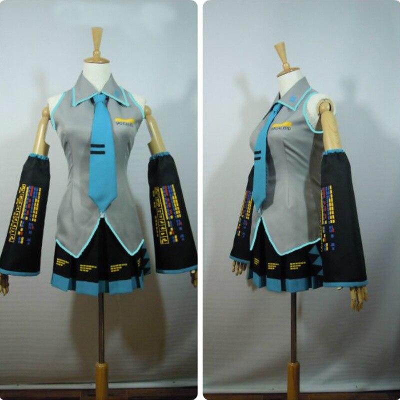 Hatsune Miku Cosplay תלבושות יפן Midi שמלת למתחילים עתיד Miku קוספליי נשי ליל כל הקדושים נשים של CostumeXXS-3XL