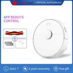 Roborock S5 Max Xiaomi Robot Vacuum Cleaner Mijia Robotic Vacuum Cleaning For Home Upgrade Of S50 S55 Mopping Cleaning Robotic