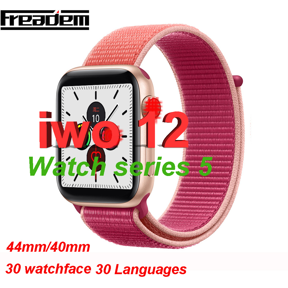 <font><b>IWO</b></font> 12 Bluetooth SmartWatch Series 5 <font><b>1</b></font>:<font><b>1</b></font> Smart Watch 40mm 44mm Case for Apple iOS Android phone Heart Rate PK <font><b>IWO</b></font> 11 10 9 8 image
