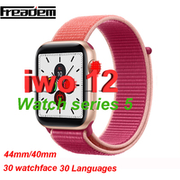 IWO 12 Bluetooth SmartWatch Series 5 1:1 Smart Watch 40mm 44mm Case for Apple iOS Android phone Heart Rate PK IWO 11 10 9 8