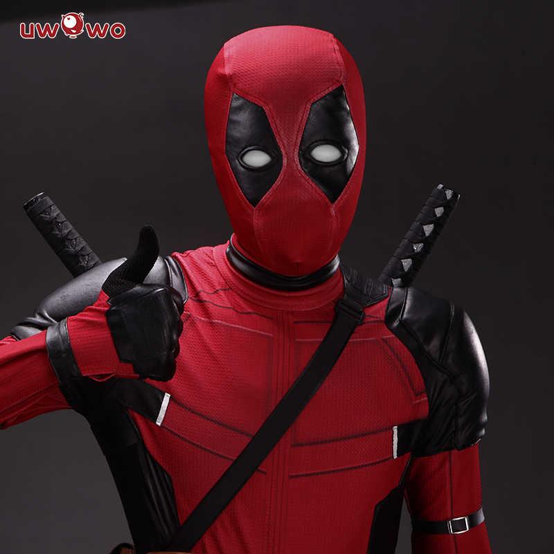 UWOWO Cosplay disfraz de deadpool Wade Winston Wilson mono habitación Deluxe, conjunto de trajes de piel de Halloween Cosplay