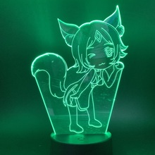 Usb 3d led night light 7 Color Changing nightlight Touch Sensor Atmosphere table lamp bedside Night Light Led 3D for children cool creative pokemon espeon 3d lamp usb cartoon night light led 7 color touch table lamp children christmas gift hui yuan brand