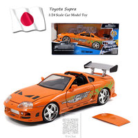 JADA 1/24 Scale Car Model Toys Toyota Supra Diecast Metal Car Model Toy For Collection,Gift,Kids