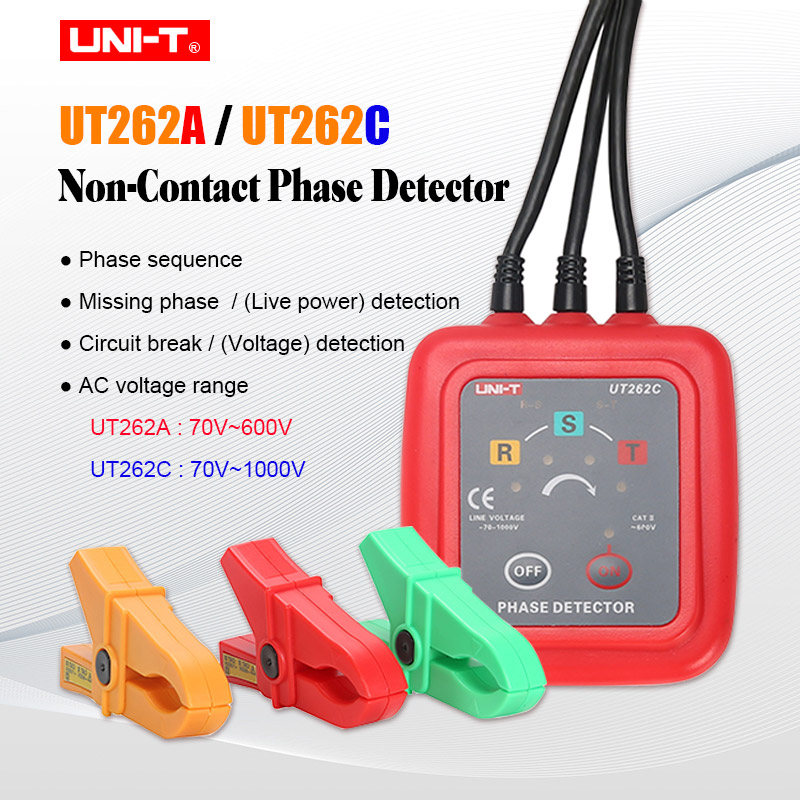 UNI-T UT262C UT262A Non-contact 3 Phase Detector Sequence ...