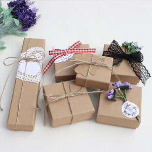 Square Gifts Box Holder Jewelry Gift Packaging Box Jewelry Display Necklace Bracelet Box Classic Jewelry Organizer Accessories
