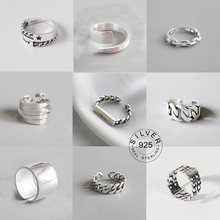 Vintage Silver Color Metal Punk Letter Open Rings Design Finger Rings for Women men Party Jewelry Gifts LETTER