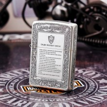 100% Original Brand New ZP Lighter Ancient silver carving oil Lighter with logo box gift