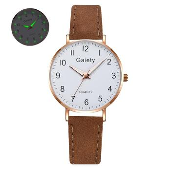 2021 NEW Women Watches Simple Vintage Small Watch Leather Strap Casual Sports Wrist Clock Dress Wristwatches Reloj mujer - G667-CO
