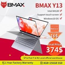 Bmax y13 computador portátil intel n4120 13.3 polegada quad core 1920*1080 ips tela 8gb lpddr4 ram 256gb ssd notebook windows10