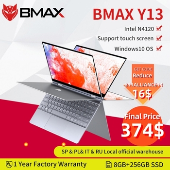 BMAX Y13 Laptop Intel N4120 13.3inch Quad Core  1920*1080 IPS Screen 8GB LPDDR4 RAM 256GB SSD Notebook windows10