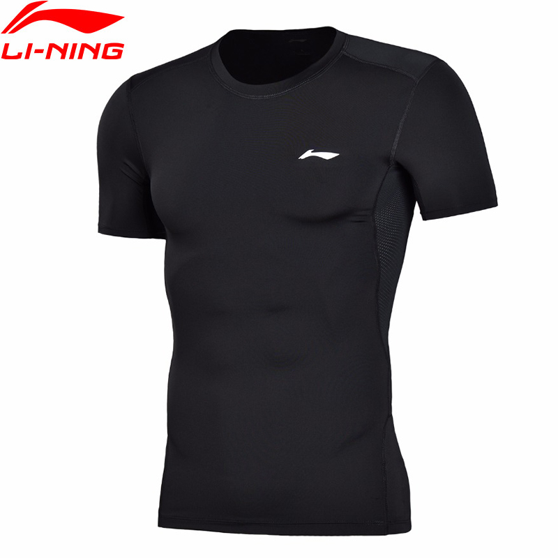 Li-Ning Men Training Professional T-Shirt Layer Slim Fit Quick Dry Breathable LiNing Li Ning Sports T-Shirt Tops AUDN015 MTS2712