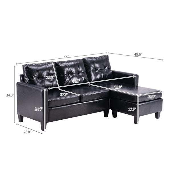 Leather Dark Sofa  4