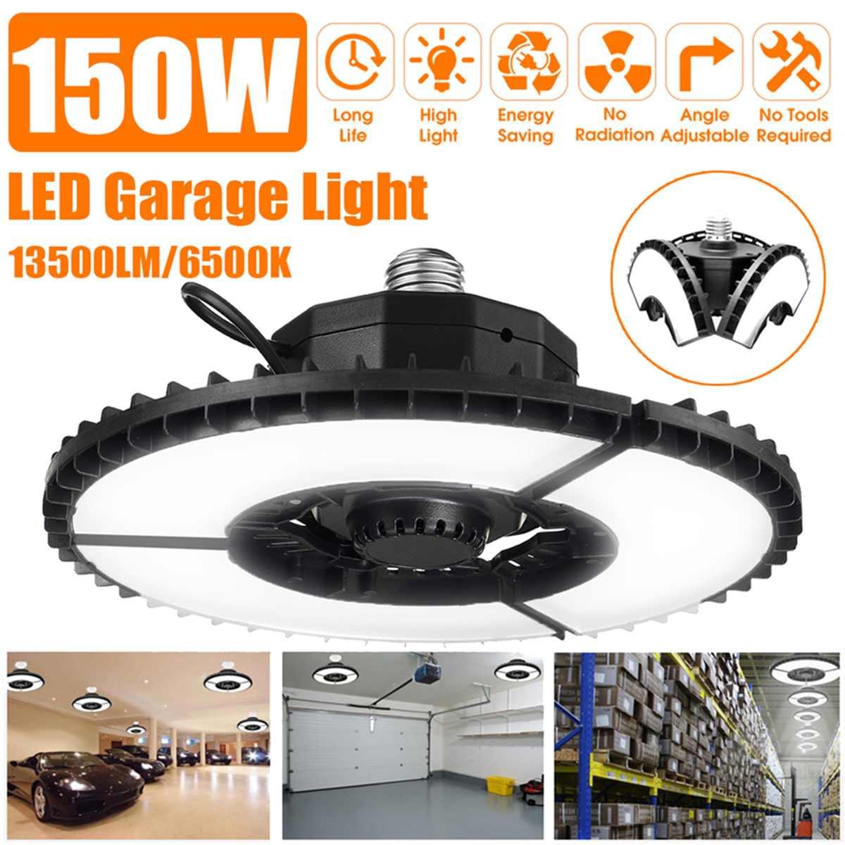 2 шт./лот 150 Вт 315LED 13500LM складной УФО СИД светильники для высоких промышленных помещений систему гаражного потолочный светодиодный светильни...