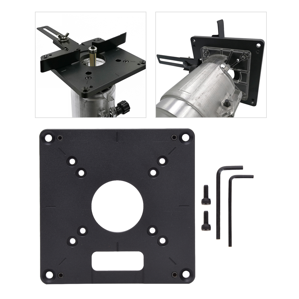 120 X 120MM Aluminum Alloy Insert Plate Flip Panel For Woodworking Trimmer Tool Indusrial Supplies The Operation Is Simple