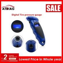 Портативный мини-брелок с цифровым ЖК-дисплеем 2-150 фунтов/кв. дюйм датчик давления в шинах