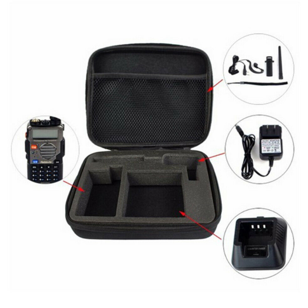 Scratch Proof Travel Dustproof Handheld Lightweight Protective Organizer Walkie Talkie Bag Accessories Storage For Baofeng UV 5R
